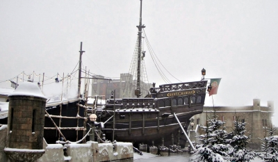 Segelschiff im Europapark